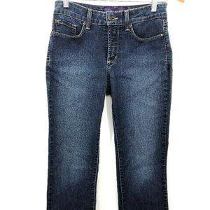 NYDJ Petite 2P Stretch Slim Straight Jeans Blue